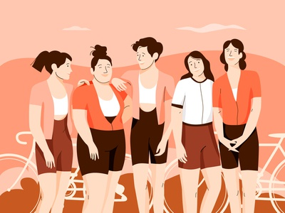Cycling girls team