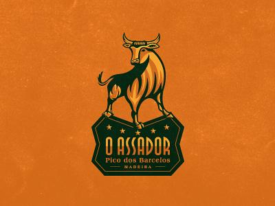 O Assador logo design logo logo design logo designer freelance logo design freelance logo designer illustrative illustrative logo design bull bull logo restaurant logo animal animal logo