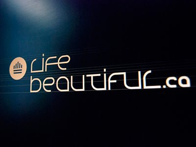 Life Beautiful  logo design logo designer custom type custom logotype logotype custom typography typographic crown logo design crown