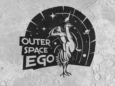 space+ego_4___logo_design logo logo design identity id negative space symbol branding texture textured crown space ego planet moon animal peacock illustration