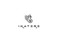 Ikatere logo design  ngo logo logo design logo designer freelance logo designer animal seahorse marine conservation black and white hand asia