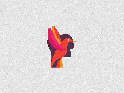 One Approach logo design logo logo design logo designer freelance freelancer freelance logo designer wizemark srdjan kirtic identity brand branding custom texture textured color colored colorful bird animal people face symbol sign mark