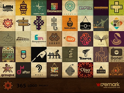 40 logos from 365 logo project