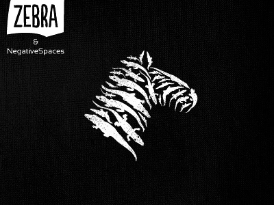 Zebra negative space