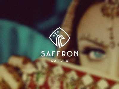 Saffron Culture logo design - 2nd concept wizemark srdjan kirtic logo logos logo design logo designer freelance freelancer freelance logo designer food animal bird crown unused peacock india cuisine