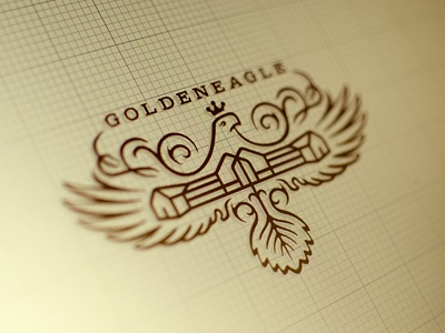 GE logo design 3 wizemark srdjan kirtic logo logos logo design logo designer freelance freelancer freelance logo designer color colors colored texture textured animal head eagle bird wings crown exclusive royal luxurious