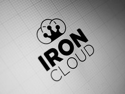 IronCloud logo design 2 wizemark srdjan kirtic logo logos logo design logo designer freelance freelancer freelance logo   designer bw black black and white cloud iron crown negative negative space