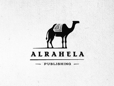 Alrahela logo design wizemark srdjan kirtic logo logos logo design logo designer freelance freelancer freelance logo designer bw black black and white negative negative space camel book books publishing arabia arabic