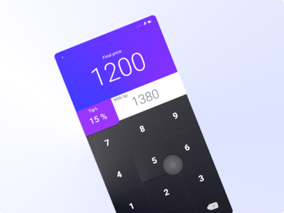 Tip calculator. inspiration uxdesign designer dailyui design