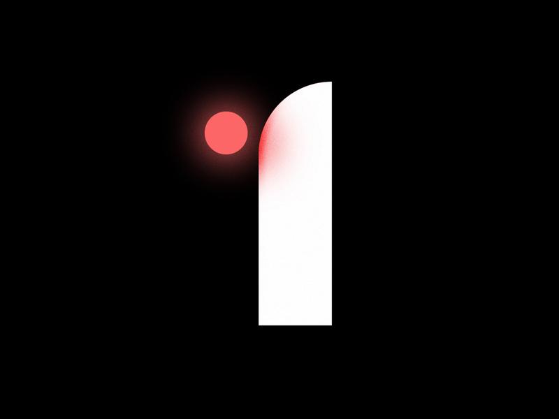 1 design illustration illustrator vector typedesign type art typeface type design one number one 1 number lettering letter typography type