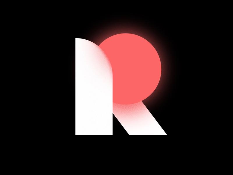 R illustration flat design branding vector illustrator minimal letters r letter r typeface lettering letter type
