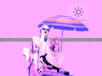 vaporwave aesthetics sunbath 鉛ヤぐ