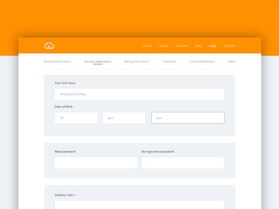 Daily UI #007 - Settings ui ux web design website form designux illustrator photoshop daily ui web design sign up