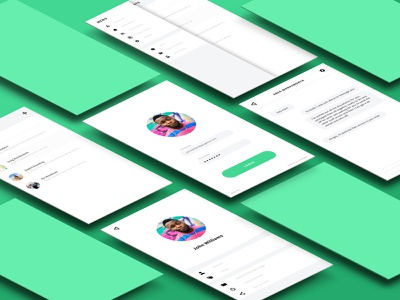 Daily UI #013 - Direct Messaging Application ui ux web design website form designux illustrator photoshop daily ui web design sign up