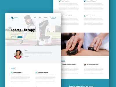 WIP - Local Sports Therapist Website