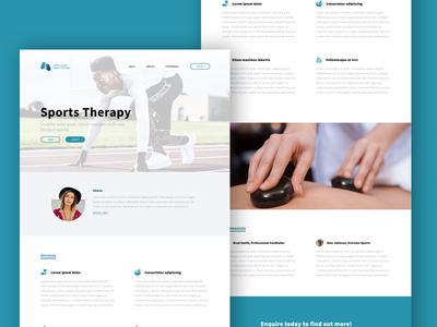 WIP - Local Sports Therapist Website ui ux web design website form designux illustrator photoshop daily ui web design sign up
