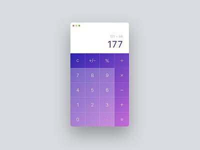 Daily UI - Calculator web design web ux user experience ui design ui