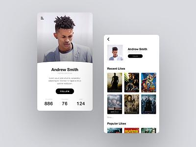 Daily UI - User Profile web design web ux user experience ui design ui