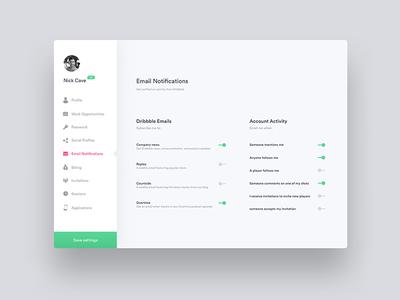 Daily UI - Settings
