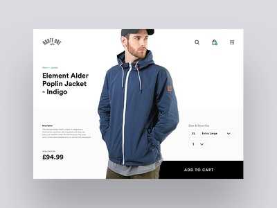 Daily UI - Single Product web design web ux user experience ui design ui