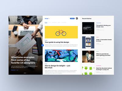 News Website Design sketch adobe xd website news design user experience web design ux web ui