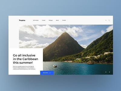 Holiday Guide Website caribbean holiday designux website ui design user experience design web design web ux ui