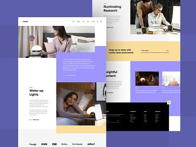 Lumie Website Re-design grid purple user experience user interface web design website ui design uiux ui