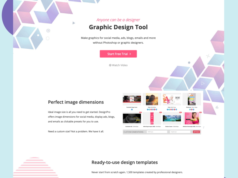 Landing page - graphic design tool for non-designers website design company website designing website design website web application design web app design web design landing page design landing page