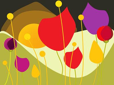 flowers bloom spring website icon branding logo illustration vector minimal design