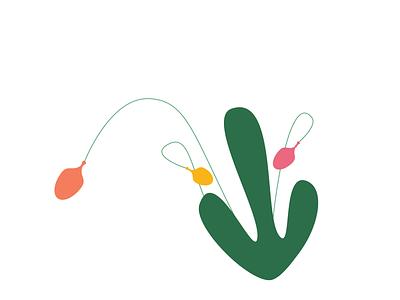 flower bulbs green leaves spring icon illustration bulb vector design
