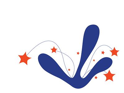 flower bush website illustration vector minimal