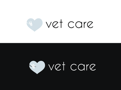 vetcare logo, vet clinic, proposal for the name of the app branding logo design vector