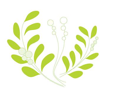 leafs leaves green website illustration vector minimal