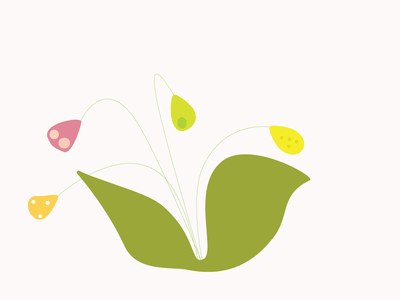 flower leaves spring minimal green illustration vector design