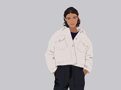 Fashion girl 2 design postrait art portraits illustrator illustration fashion illustration fashion art
