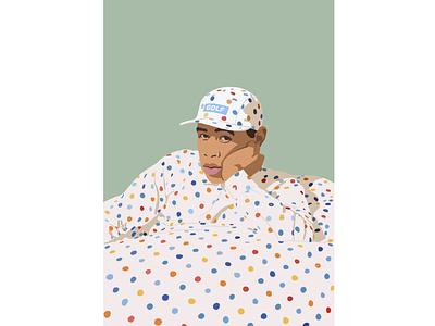 Man in dots postrait art portraits illustrator illustration fashion illustration fashion design art