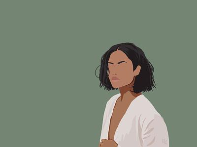 Girl in white illustration art illustrated postrait art portraits illustrator illustration fashion illustration fashion design art