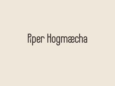 Piper personal logotype brand design branding identity lettering script graphic design design logotype logo