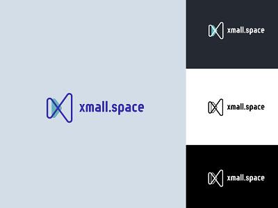 Xmall.space logotype web app vector icon agency branding design graphic design branding logotypes identity branding ui ux identity logo design logotype logo