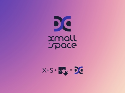 Xmall.Space logo. Version 2 typography ux vector ui identity logo graphic design illustration logotype branding design