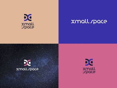 Xmall.space logo. Version 2 ux vector ui identity logo graphic design logotype illustration branding design