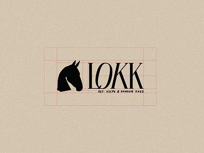 LOKK logotype vector illustration branding identity horse red design graphic design logotype logo