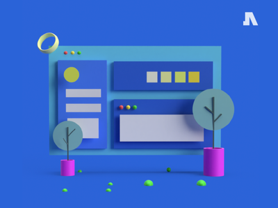 Website Simple 3D Illustration illustrator art vector flat app web minimal illustration design ui