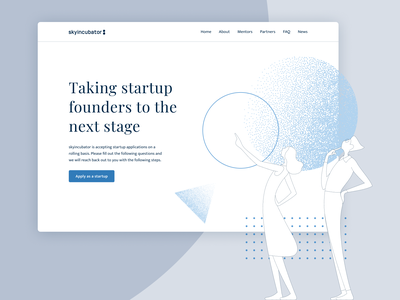 skyincubator header illustration web ui design