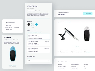 E-commerce — Lift eFoils eccomerce web branding surfing ocean ui design