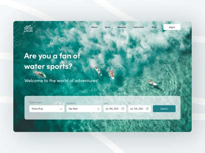 Link Adventures — Search engine search vacation ux surfing ocean ui design