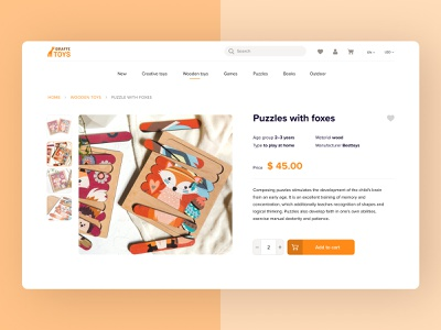E-commerce website toys shopping e-commerce web ux ui