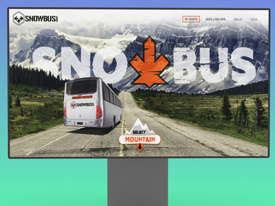 Bus Service Landing Page | Parallax Scroll photo manipulation scroll parallax home page ux ui landing page hero section design