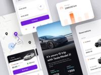 Dealership app ai artificial intelligence clean ui ios app mobile rideshare dealership car tesla bmw road uber statistics auto automotive taxi