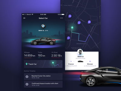 Track Car App ride ios uber rideshare figma app car mobile control track